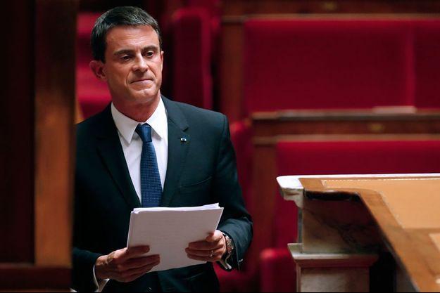 Manuel Valls à l'Assemblée nationale, le 16 septembre 2015.