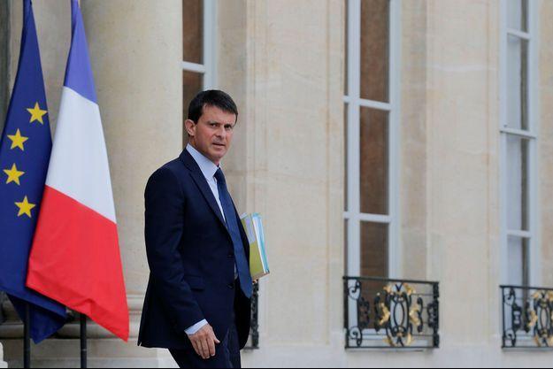 Manuel Valls à l'Elysée, le 28 août dernier.