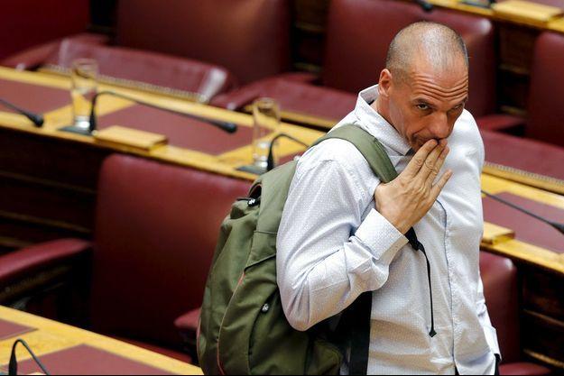 Yanis Varoufakis, au Parlement grec le 15 juillet 2015.