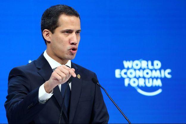 Juan Guaido au Forum économique mondial de Davos.