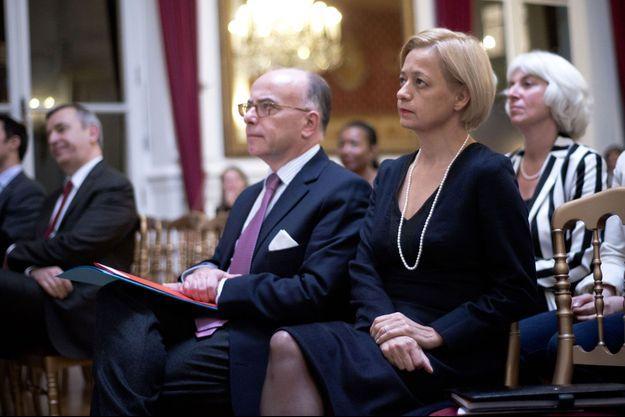 Bernard et Véronique Cazeneuve en décembre 2015, lors d'une soirée organisée par l'association «Femmes de l'Intérieur».