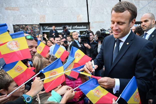 Emmanuel Macron à Canillo vendredi.