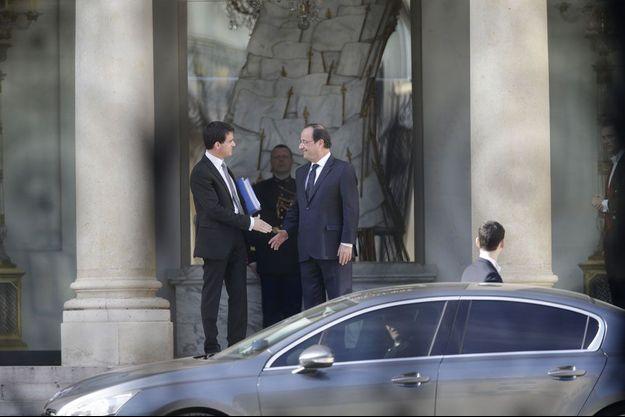 Manuel Valls et François Hollande, mercredi matin, à l'Elysée.