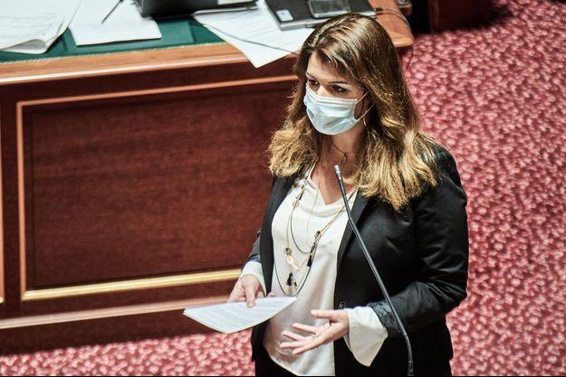 Marlène Schiappa ici au Sénat en janvier.