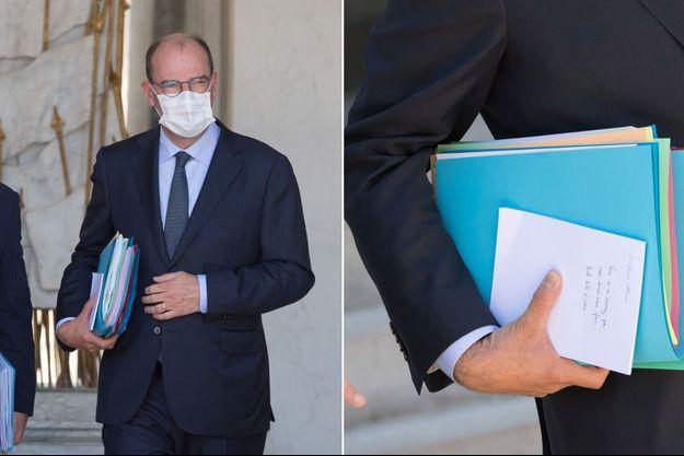 Jean Castex, mercredi à la sortie du Conseil des ministres.