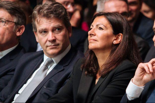 Arnaud Montebourg et Anne Hidalgo, en 2017.