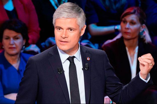 Laurent Wauquiez ici le 10 avril lors d'un débat dans le cadre des Européennes.