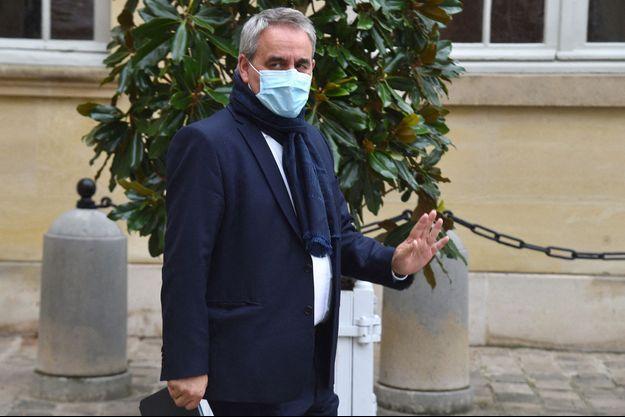 Xavier Bertrand , ici à Matignon en septembre dernier.