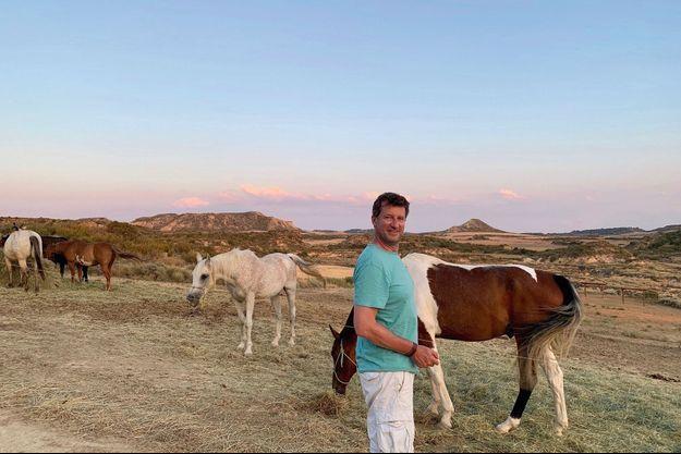 En 2019, dans les Bardenas Reales, une réserve naturelle en Espagne. « Ici, on a l'impression de se retrouver dans un western. »