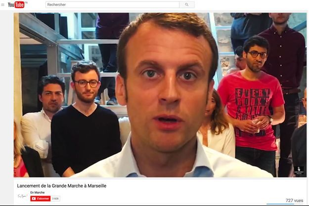 Une vidéo de la chaîne YouTube d'En Marche!, capturée le 14 décembre.