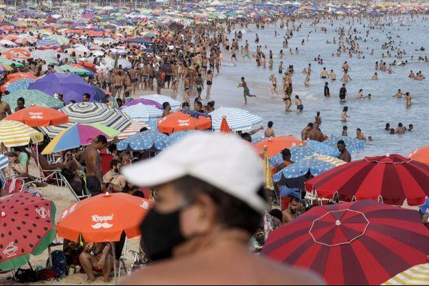 Une plage de Rio de Janeiro, le 16 février dernier.