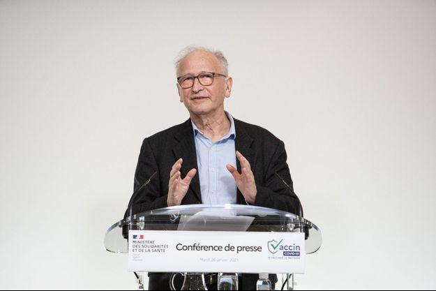 Alain Fischer lors d'une conférence de presse en janvier dernier.