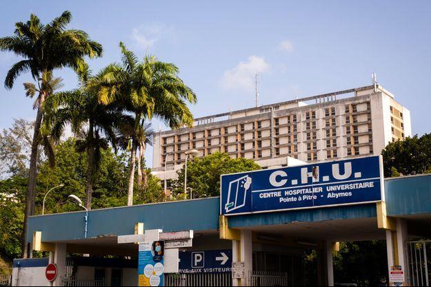 Devant le CHU de Guadeloupe, le 3 septembre dernier.