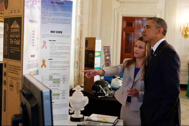 Britanny Wenger a été reçue par le président Obama.