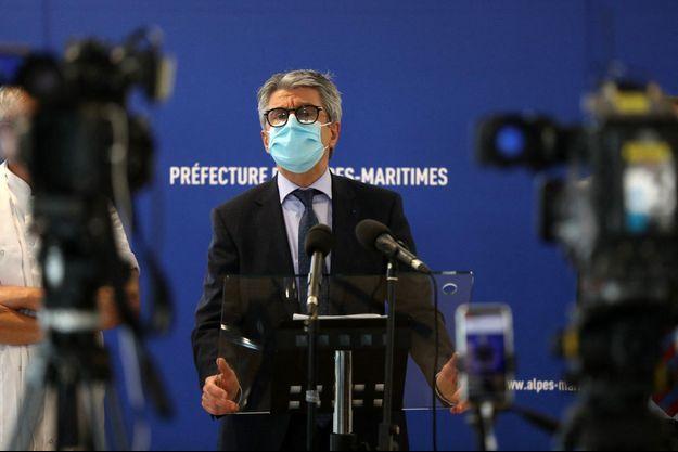 Le préfet des Alpes-Maritimes Bernard Gonzalez lors de la conférence de presse sur la situation sanitaire dans le département, le 22 février 2021.