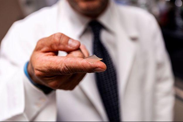 Le vaccin se présente sous la forme d'un patch.