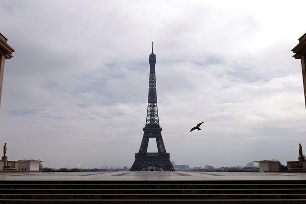 Le Trocadéro vide, ce mardi.