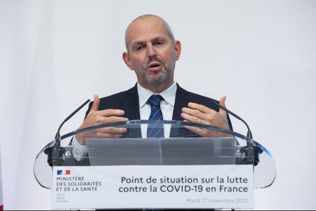 Jérôme Salomon lors de son point sur la situation sanitaire, mardi 17 novembre.