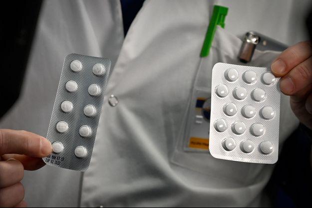 Plaquettes de Plaqueril, contenant de l'hydroxychloroquine.