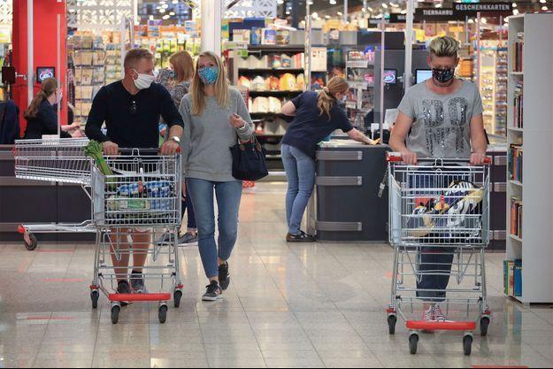Dans un supermarché d'Allemagne.
