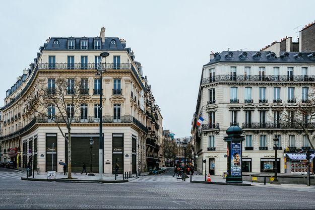 Paris à l'heure du coronavirus et du confinement.