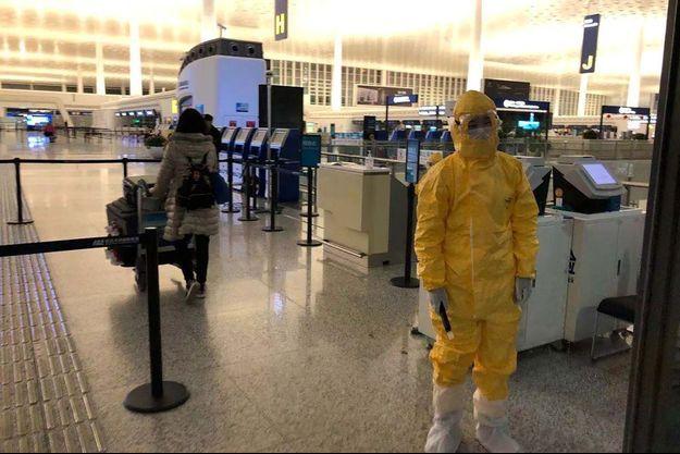 Vendredi, à l'aéroport de Wuhan, en Chine.