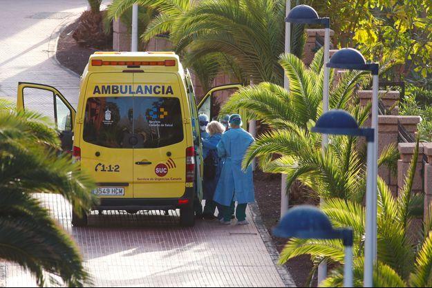 Une ambulance en Espagne.