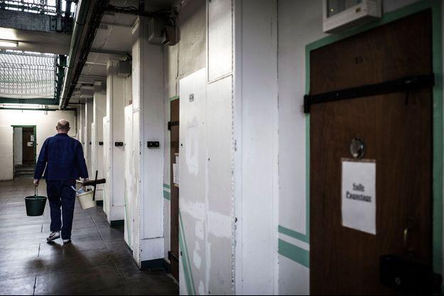 Dans les couloirs de la prison de Fresnes, ici en 2018.