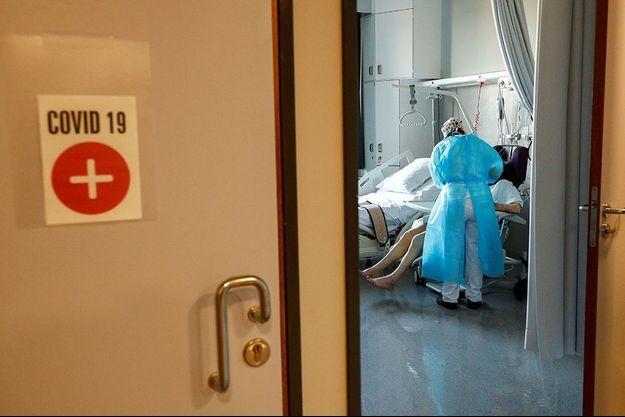 Photo prise dans un hôpital à Bruxelles.