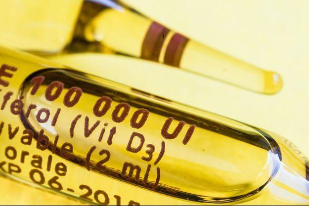 Photo d'illustration d'une ampoule de vitamine D.