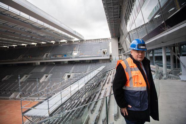 Bernard Giudicelli, Président de la Fédération Française de Tennis, à Roland-Garros en février 2020.