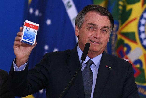 Le président brésilien Jair Bolsonaro, atteint du covid-19 en juillet dernier, avait dit qu'il avait reçu de l'hydroxychloroquine.