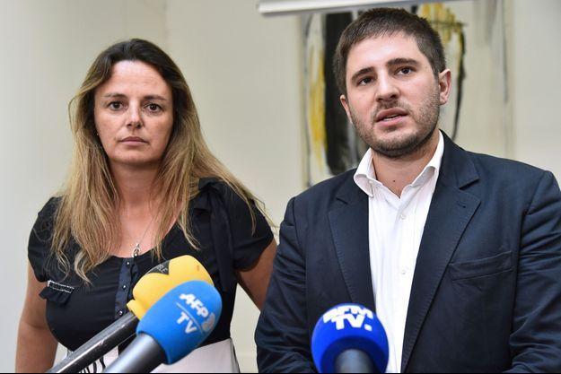 Martine Marin, présidente d'Apesac, et l'avocat Charles Joseph-Oudin, en août 2016.