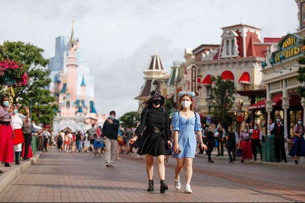Photo prise à Disneyland Paris le 23 juin 2021.