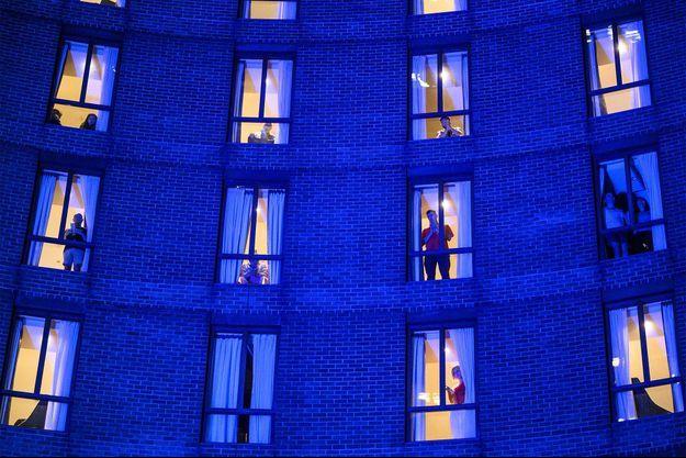 Un hôtel accueillant des personnes en quarantaine à cause du covid-19, à Sydney, en Australie.