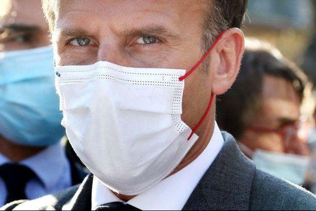 Emmanuel Macron dans le Lot, le 2 juin.