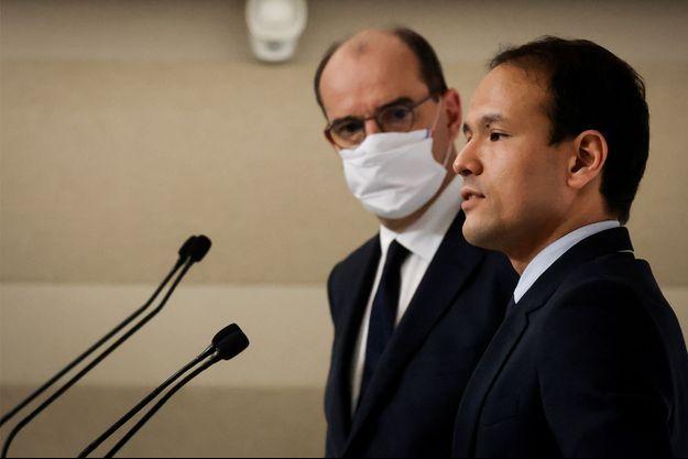 Jean Castex et Cédric O, jeudi, en conférence de presse.