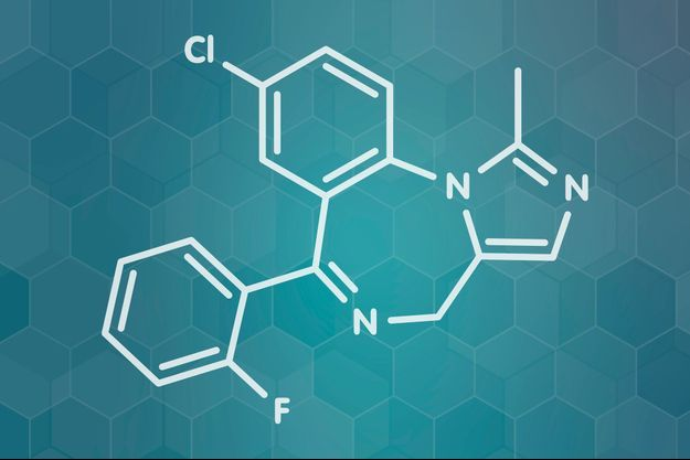 La molécule du Midazolam.