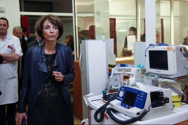Marisol Touraine à l'hôpital Ambroise Paré mercredi.