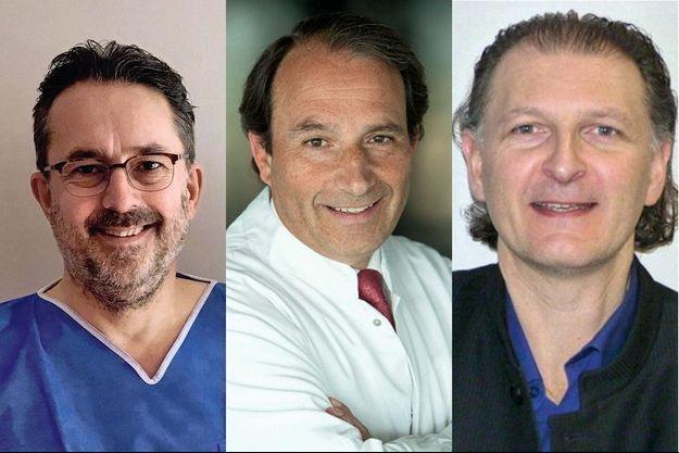 Les Drs Stéphane Guillo, Christophe de Lavigne et Olivier Laffenêtre