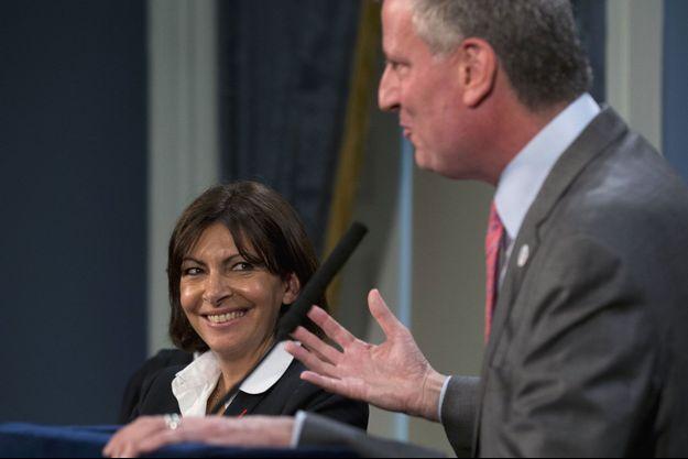 Anne Hidalgo et Bill de Blasio le 30 mai dernier à New York.