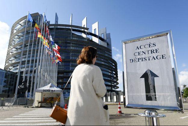Un centre de dépistage a été installé au Parlement européen à Strasbourg, ici photographié le 12 mai.