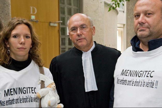 Me Ludot, l'avocat des familles qui ont assigné en justice le distributeur français du Meningitec, lors de l'audience au civil à Clermont Ferrand.