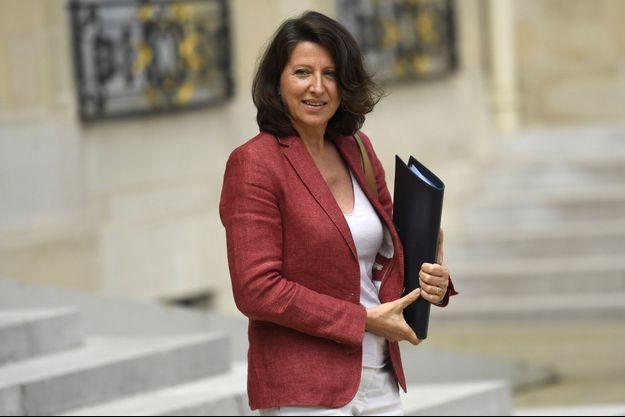 La ministre de la Santé Agnès Buzyn à l'Elyséen le 9 août dernier.