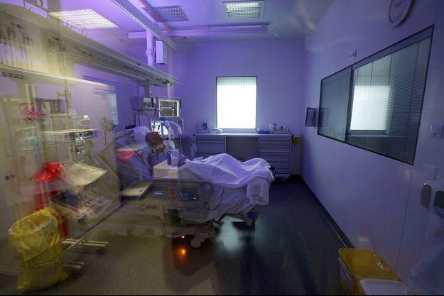 Un malade du covid-19 hospitalisé à Marseille, 8 septembre 2020.