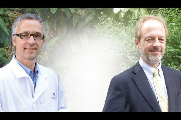 Le Pr Pierre Desreumaux et le Dr Pierre Vandepapelière