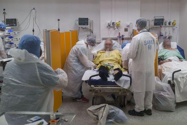 Hôpital Louis Pasteur à Colmar, le 26 mars 2020.