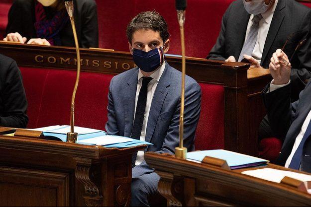 Gabriel Attal à l'Assemblée nationale le 15 décembre.