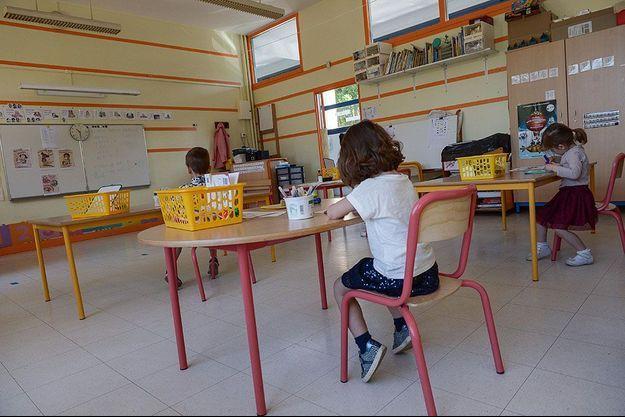 Photo d'illustration prise dans un école à Mantes-la-Jolie.