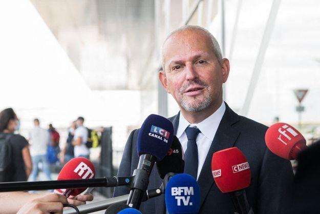 Le directeur général de la santé Jérôme Salomon à Orly en août 2021.